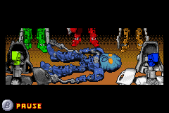 BIONICLE: Maze of Shadows Game Boy Advance Intro - Nokama has been wounded