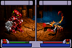 Bionicle: Maze of Shadows Game Boy Advance The first battle, the combat is turn based