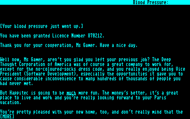 bureaucracy screenshots for commodore mobygames bureaucracy commodore 128 introduction