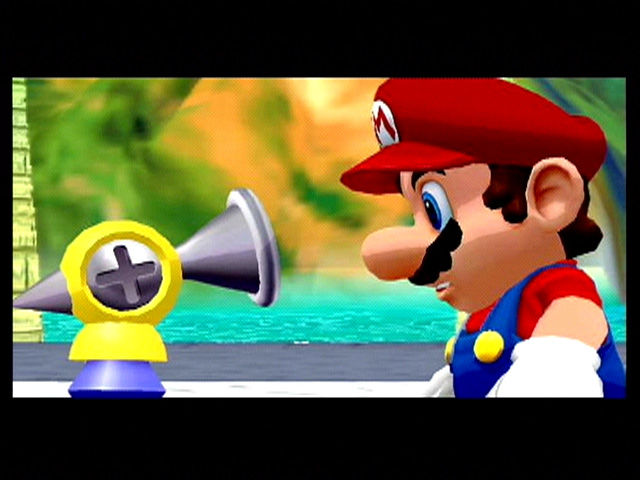 Super Mario Sunshine GameCube Mario meets FLUDD