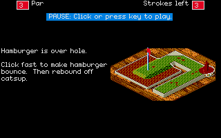 Will Harvey's Zany Golf Atari ST Tips on defeating the hazards