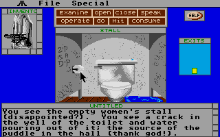 Déjà Vu: A Nightmare Comes True!! Atari ST Reassurance is often found in the women's bathroom