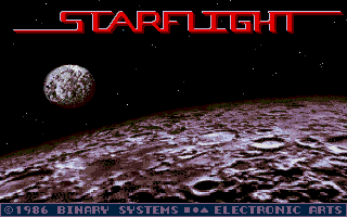 Starflight Atari ST Title screen