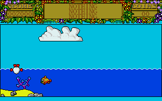 Treasure Island Dizzy Atari ST Dizzy can't actually jump in the water like he appears to effortlessly do at the start of the game.  Here, it kills him.