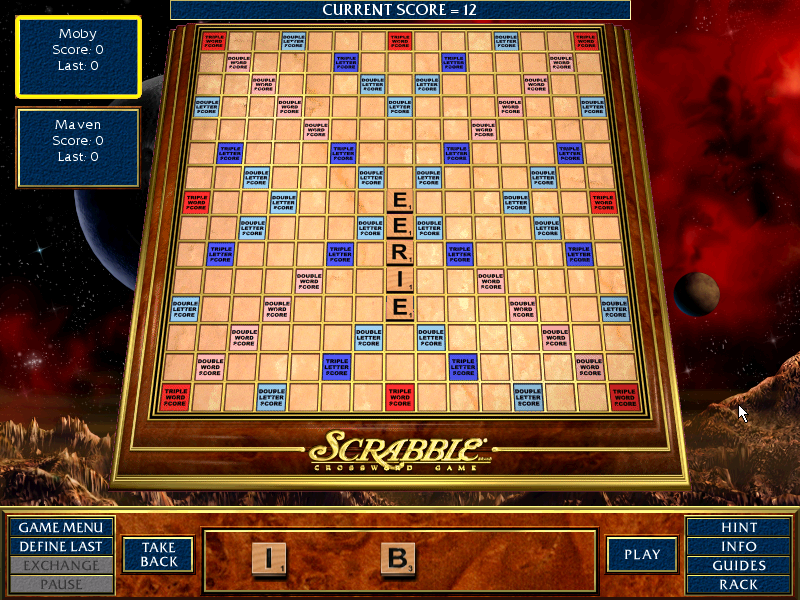 Scrabble Complete Windows The player begins the first round with a word starting on the center star