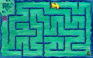 Putt-Putt Goes to the Moon DOS Click through the maze to reach Pep.
