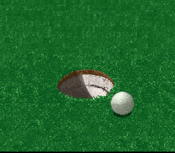 Hole in One SNES Chips and putts oftentimes will switch to a zoomed in view of the hole if they're close to the pin.