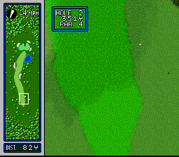Hole in One SNES And my tee off shot is a little to the right...