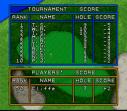 Hole in One SNES After three holes, it appears I have some catching up to do...