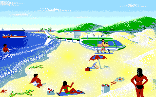 California Games II Amiga Helicopter at the beach