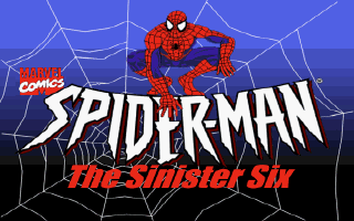 Marvel Comics Spider-Man: The Sinister Six DOS Title screen