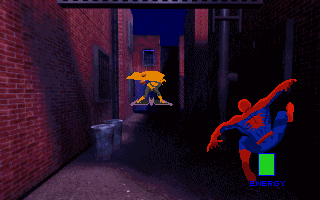 Marvel Comics Spider-Man: The Sinister Six DOS Jump from wall to wall to avoid his projectiles.