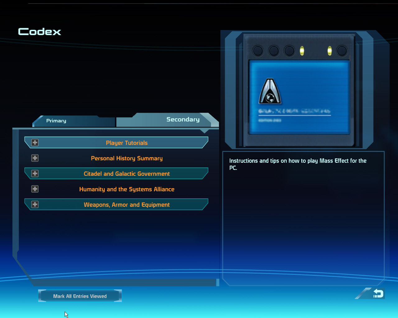 Mass Effect Windows Learn all about the Mass Effect universe.