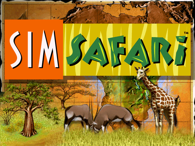 SimSafari Windows Title screen