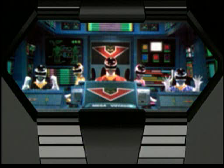 Saban's Power Rangers: Time Force PlayStation All of the Power Rangers at the controls