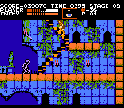 Castlevania NES The white skeletons can throw their own bones.