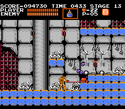 Castlevania NES I found a hidden turkey. It can restore health if you are injured.