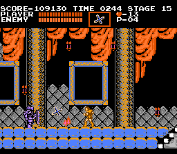 Castlevania NES The axe-throwing knight is tough, but a few boomerangs should teach him a lesson.