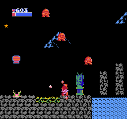 Kid Icarus NES The night has fallen...and rock-men drop down from the sky.