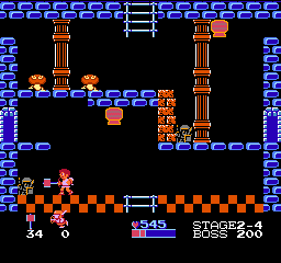 Kid Icarus NES Centurions that have been turned to stone can be set free if you hit them with a hammer. They will help you later, when you fight the next boss.