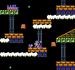 Kid Icarus NES You get big hearts from killing some of the harder enemies. They are worth ten small hearts.