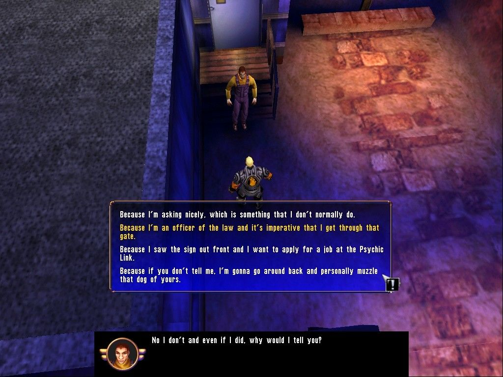 Sanity: Aiken's Artifact Windows There are also limited dialogue trees built into the game.