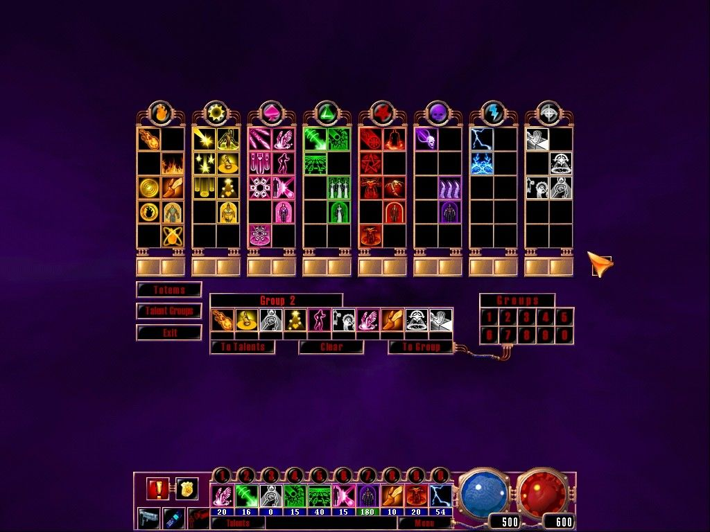 "Sanity: Aiken's Artifact Windows You develop your powers by collecting talent cards in the eight different psychic ""totems""."