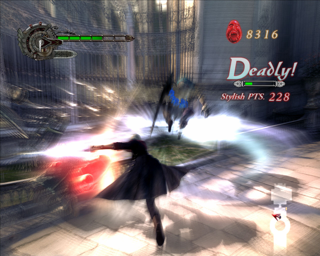Devil May Cry 4 Windows Deadly combo attack