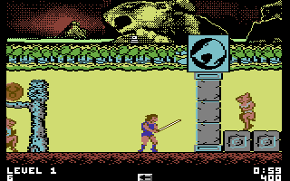 Thundercats Commodore 64 Beginning the game, infinitely re-spawning enemies start running at you immediately