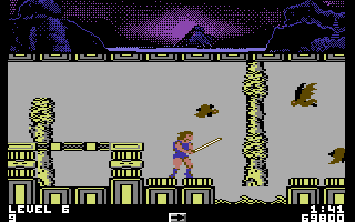 Thundercats Commodore 64 Air level - lots of bats again