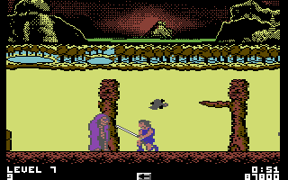 Thundercats Commodore 64 Earth level - these guys come up from the ground and are hard to destroy