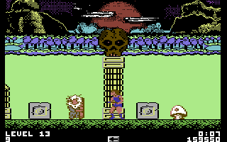 Thundercats Commodore 64 Another bonus mission - these enemies carry shields and can only be hit from behind