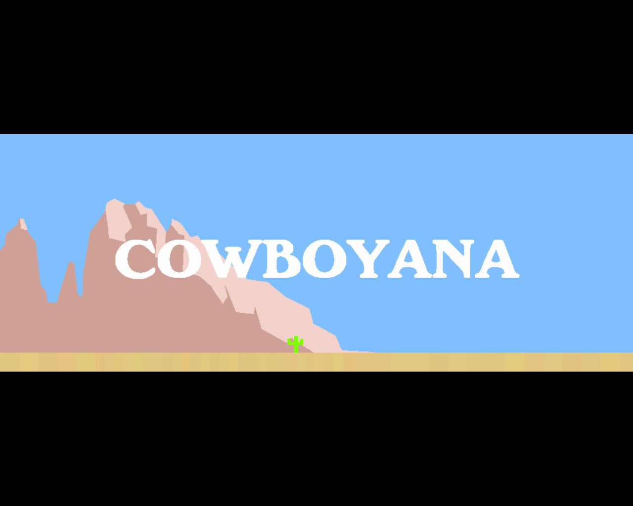 Cowboyana Windows Title screen