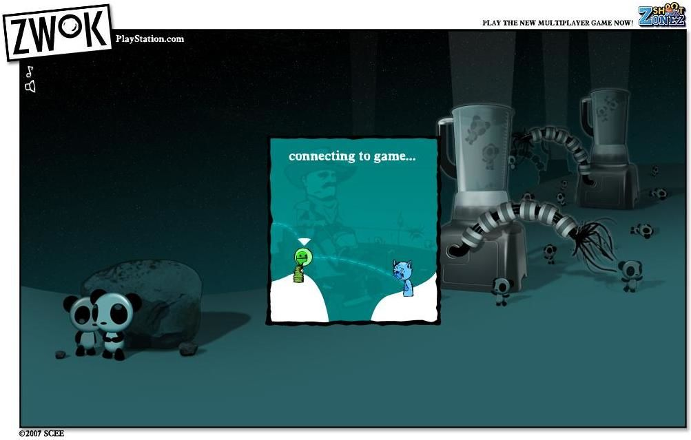 Zwok Browser One of the many bizarre loading screens