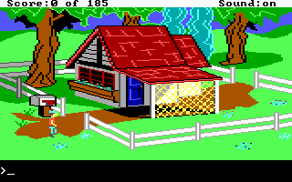King's Quest II: Romancing the Throne DOS A very nice looking house