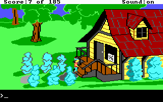 King's Quest II: Romancing the Throne DOS The antique shop