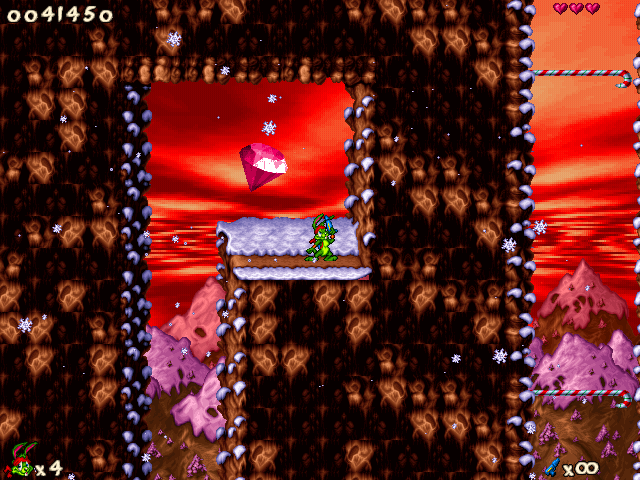 Jazz Jackrabbit 2: Holiday Hare 98 Windows Bonus area. Shine on, you crazy diamond!