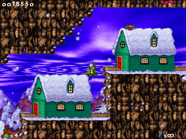 Jazz Jackrabbit 2: Holiday Hare 98 Windows It's a very beautiful town, isn't it?