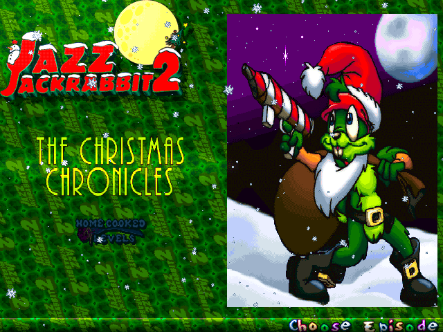 Jazz Jackrabbit 2: Holiday Hare 98 Windows Episode selection (The Christmas Chronicles edition)