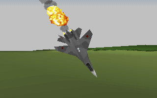 Strike Commander DOS ...and waste tougher enemies than Mig 21s, sure.