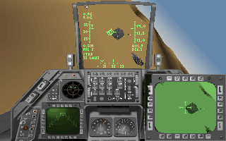 Strike Commander DOS There are ground missions too, like bombing enemy camps.
