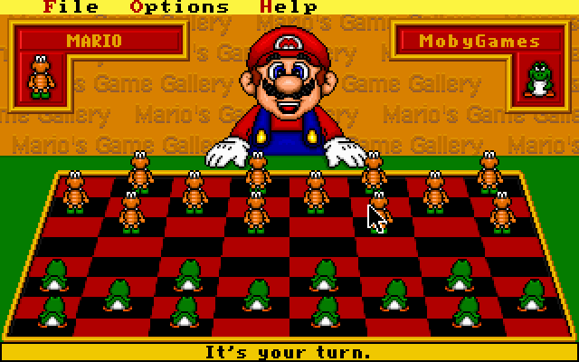 Mario's Game Gallery DOS I decided to be Yoshi's.
