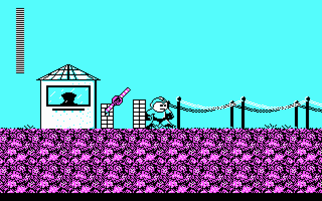 Mega Man DOS Checkpoint to level select (CGA)