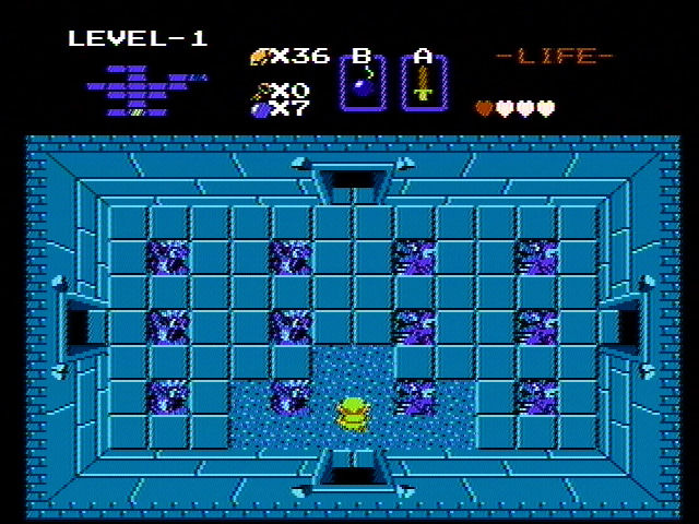 The Legend of Zelda NES Beginning to explore a labyrinth