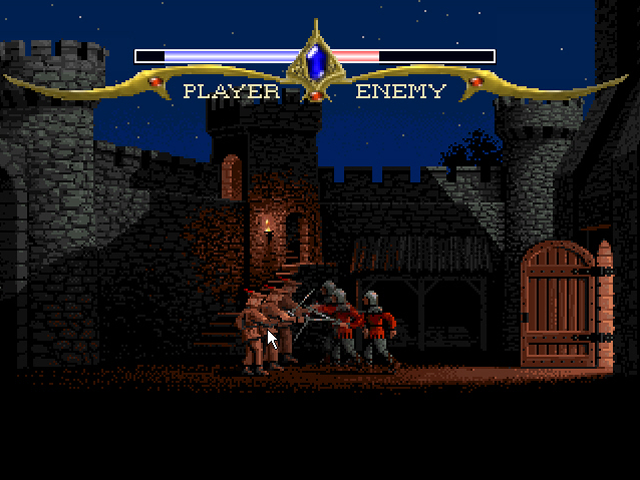 Defender of the Crown Browser Attempting to enter the castle.