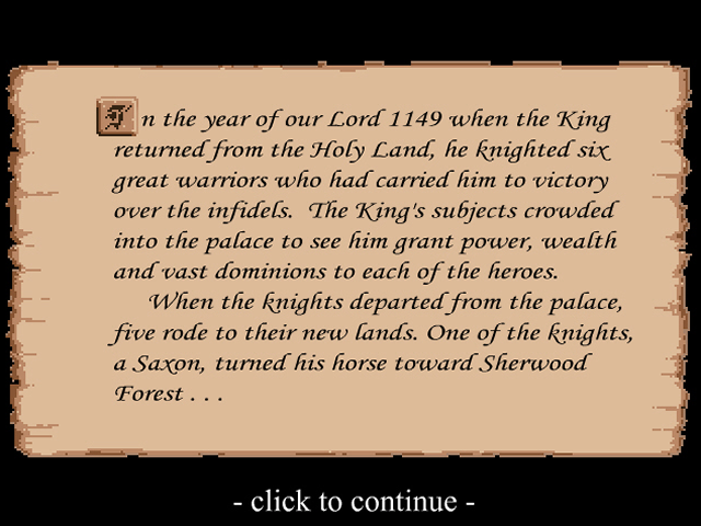 Defender of the Crown Browser The story