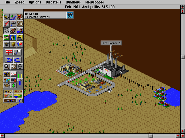 SimCity 2000 DOS Humble beginnings