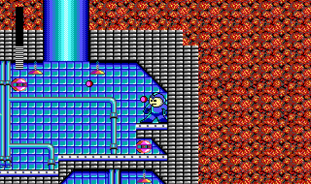 Mega Man DOS Stuck in a bad place.