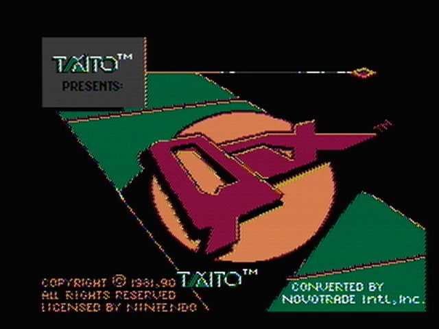 QIX NES Title screen