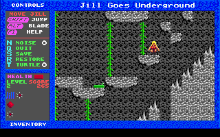 Jill of the Jungle: Jill Goes Underground DOS Jill has found a shortcut